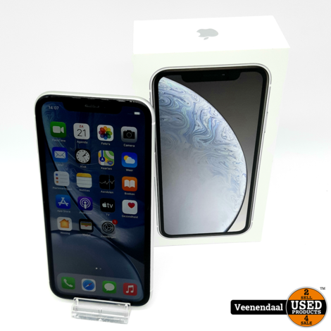 Apple iPhone XR 64 GB Wit - Accu: 90% - In Goede Staat