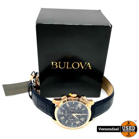 Bulova 97B170 Heren Horloge Blauw - Nieuw In Doos