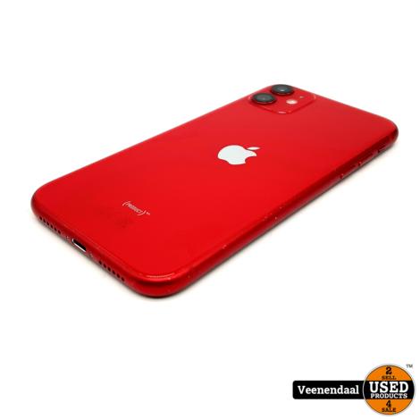 WEG=WEG Apple iPhone 11 128GB Rood - Accu: 88% - In Goede Staat