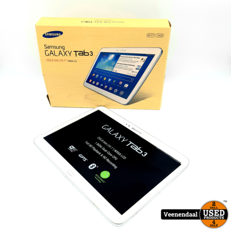 Samsung Galaxy Tab 3 16GB Wit 10.1 Inch - In Goede Staat
