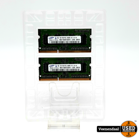 Crucial Apple Mac 1GB RAM DDR3 1333MHz (2x1GB) - In Goede Staat