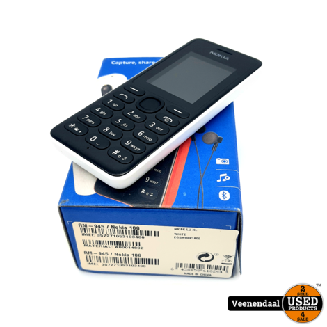 Nokia 108 Wit 1.8 Inch - In Goede Staat
