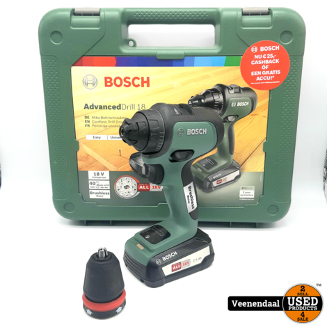 Bosch AdvancedDrill 18 18V Slagboormachine - In Goede Staat