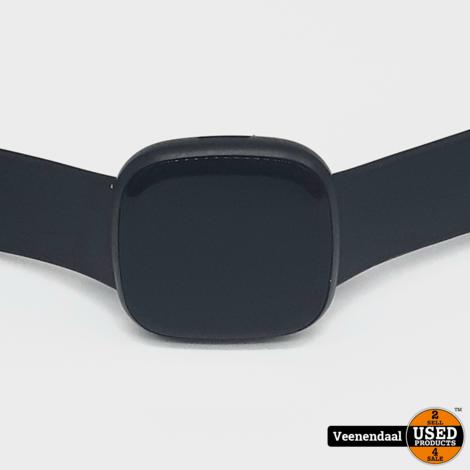 Fitbit Versa 3 - Smartwatch - Zwart - In Nette Staat