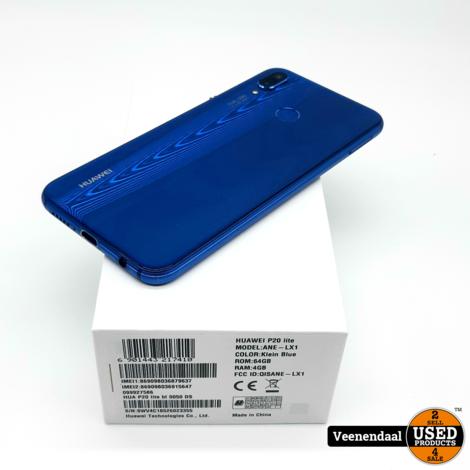 Huawei P20 Lite 64GB Klein Blue - In Goede Staat