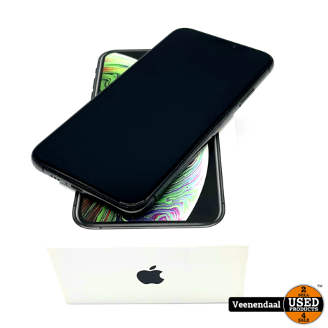 Apple iPhone XS 64GB Space Grey Accu 88% - In Goede Staat