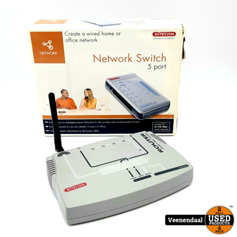 Sitecom Network Switch Router - In Goede Staat