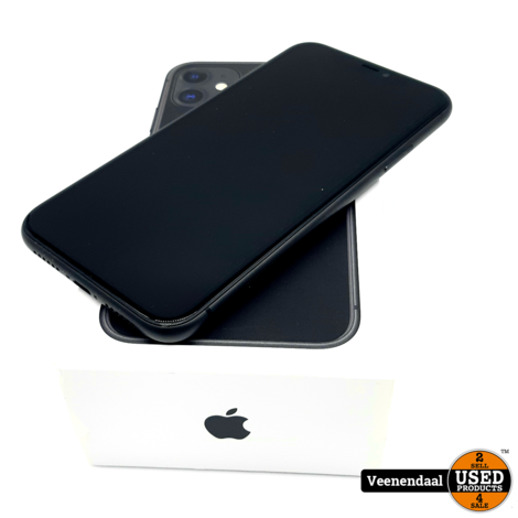 Apple iPhone 11 64GB Space Gray Accu: 100% - In Goede Staat