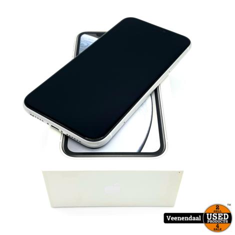 Apple iPhone XR 128GB Zilver Accu:92% - In Goede Staat