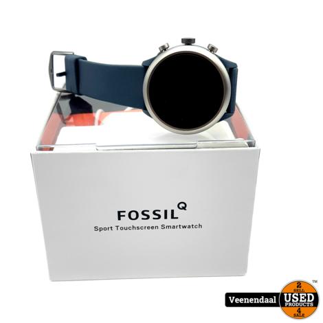 Fossil Sport Gen 4S - Smartwatch - 43 mm - Donkerblauw - In Nette Staat