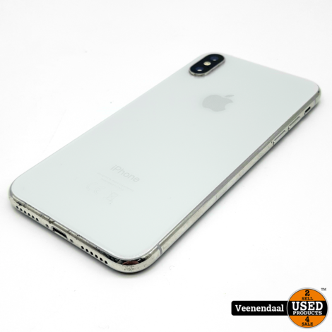 Apple iPhone X 64GB Wit Accu: 83% - In Goede Staat