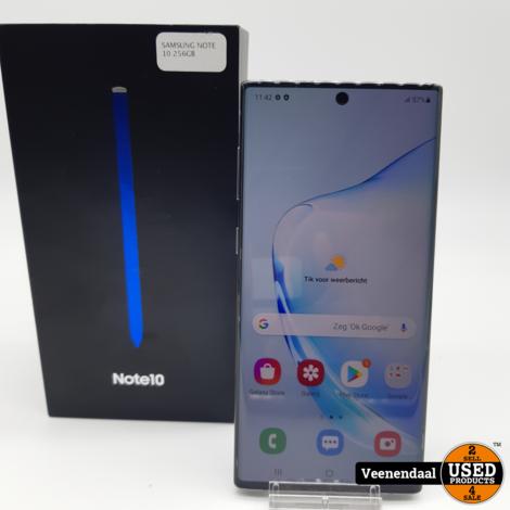 Samsung Galaxy Note10 256GB Zilver Compleet in Doos