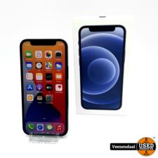 Apple iPhone 12 Mini 64GB Zwart Accu: 100% - ZGAN!
