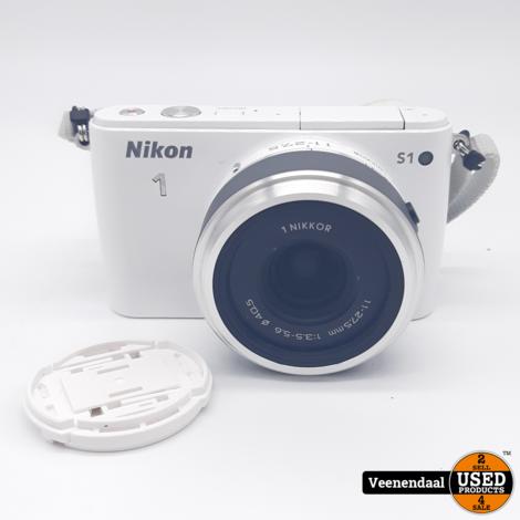 Nikon 1 S1 Fotocamera + 1Nikkor 11-27.5 Lens - In Goede Staat