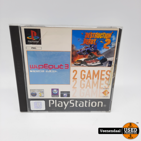 Destruction Derby 2 - Wipe Out 3 - Sony Playstation