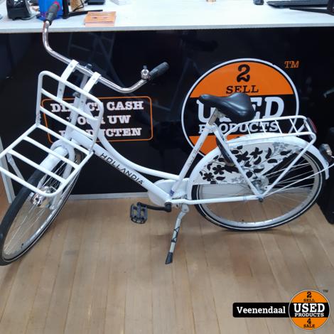 Hollandia Dames Fiets - Incl fietsrek - In Goede Staat