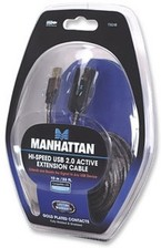 Manhattan Hi-Speed USB Active Extension Cable Gold Plated