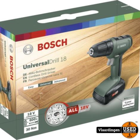 Bosch UniversalDrill 18  2 maal 18V accu | Nieuw in doos |