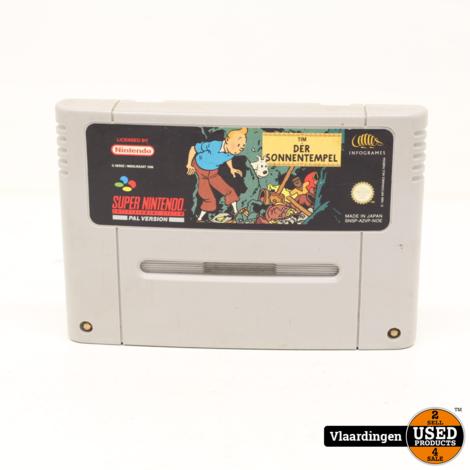 Kuifje de Zonnetempel  SNES Super Nintendo