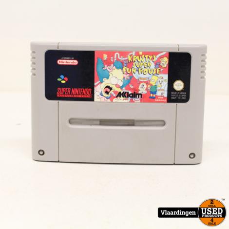 Krusty's Super Fun House SNES Super Nintendo