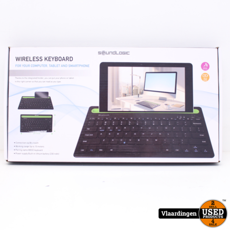 Soundlogic Wireless Keyboard 80032 - Nieuw in Doos.