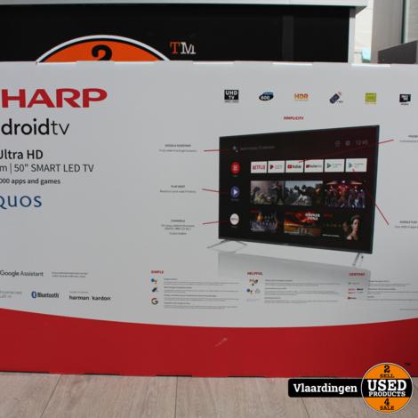 Sharp 50 inch 4K Ultra HD Android Smart TV - Nieuw in doos - 2 jaar Garantie -