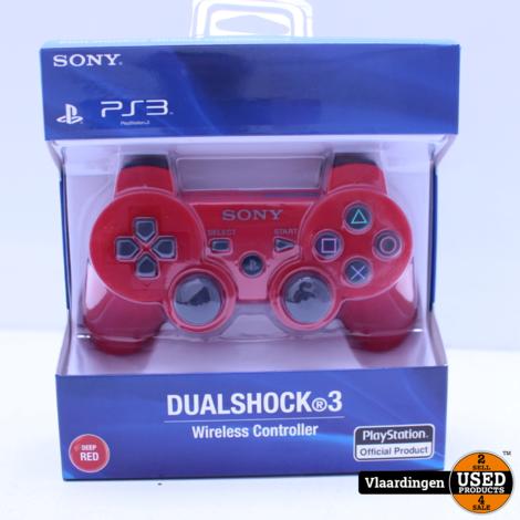 Playstation 3 Controller Rood - Nieuw in Doos -