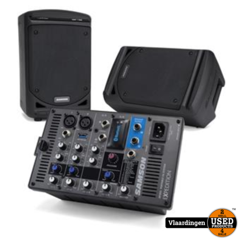 Samson XP300 Portable PA System met Bluetooth.