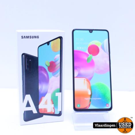 Samsung Galaxy A41 Prism Crush Black - Nieuwstaat met 2 jaar garantie -