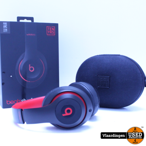 Beats Studio 3 Wireless Decade Collection Zwart/Rood - Top Staat - Met garantie tot 20-06-2021