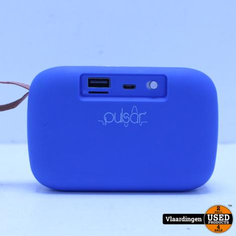 Pulsar Mini Bluetooth Speaker Blauw *NIEUWSTAAT*