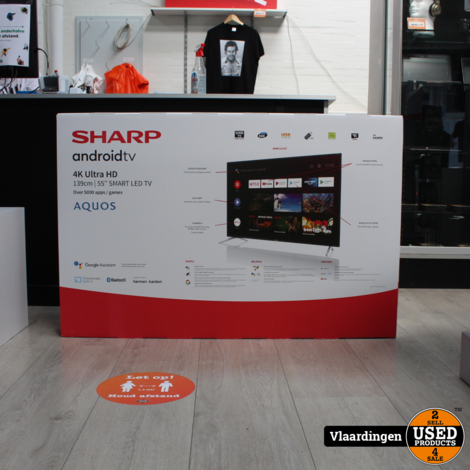 Sharp 55 inch 4K Ultra-HD Android SmartTV  - Nieuw in doos - 2 jaar Garantie -
