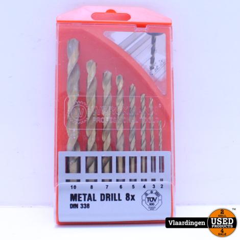 Metal Drill 8 X boortjes