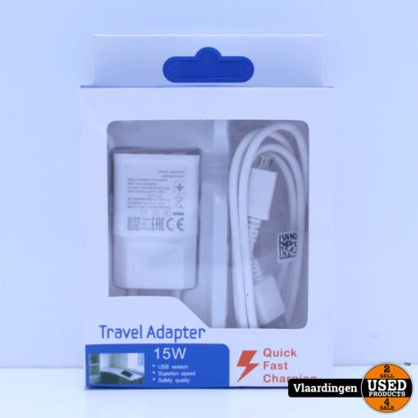 Snel-lader plus Micro USB - Kabel  - Nieuw in doos -