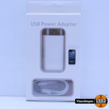 USB Power Adapter met lightning-Kabel Iphone oplader - Nieuw in doos -