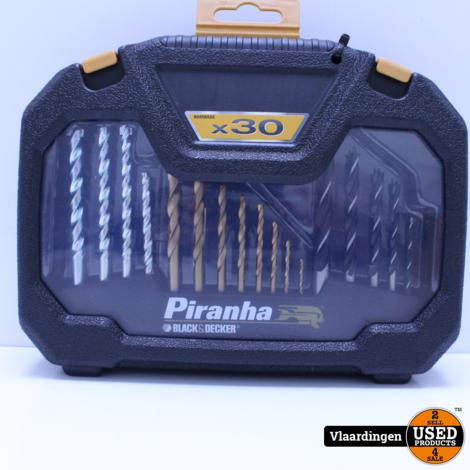 Black en Decker Piranha HI-TECH boren en bitset 30-delig *NIEUW*