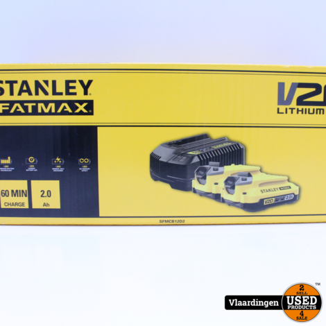 Stanley Fatmax V20 18V 2.0Ah Startpakket SFMCB12D2*NIEUW*