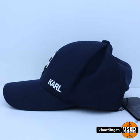 Karl Lagerfeld Fullcap met Karl-applicatie - Donkerblauw - Nieuw -