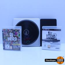 Playstation DJ Hero Turntable PS2/PS3 inclusief DJ Hero en Dj Hero 2 - In goede staat -