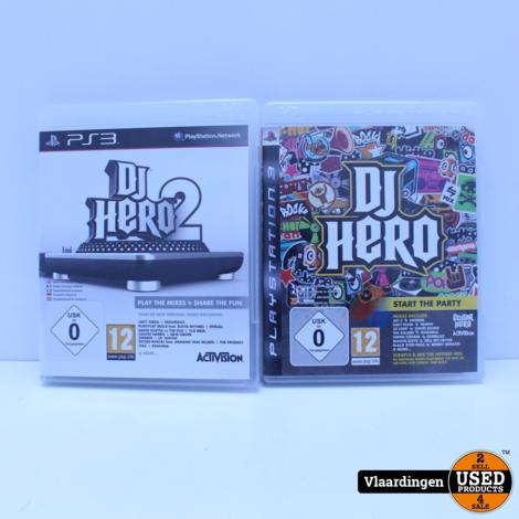 DJ Hero Turntable PS2/PS3 inclusief DJ Hero en Dj Hero 2 - In goede staat -