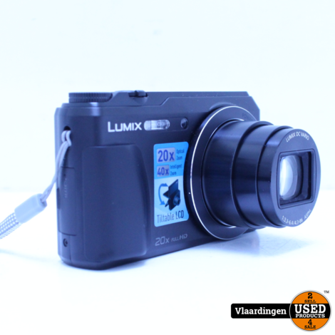 Panasonic Lumix DMC-TZ55/ Vlog Camera zwart Incl 8GB Sd Kaart. - Nieuwstaat - Met Garantie -