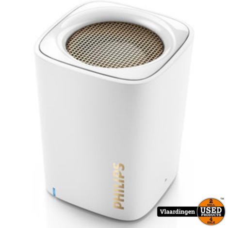 Philips Bluetooth Speaker BT100 Wit - Nieuw in doos -
