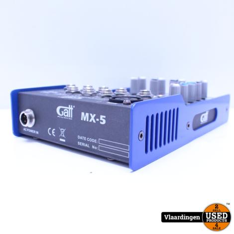 Gatt Audio 5 kanaals Mengtafel MX-5