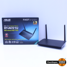 Asus ASUS RT-AC51U draadloze router Dual-band (2.4 GHz / 5 GHz) Fast Ethernet Zwart