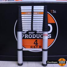 Duro Telecopische Ladder - Reikhoogte tot 4 meter  - 12 Treden -
