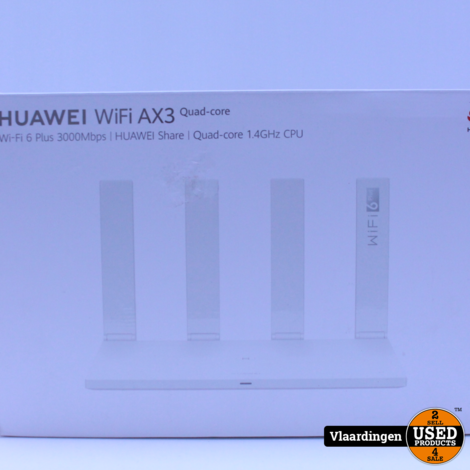 Huawei Wifi AX3 Quad Core 1.4GHz 6 Plus 3000Mbps Router - In goede staat -