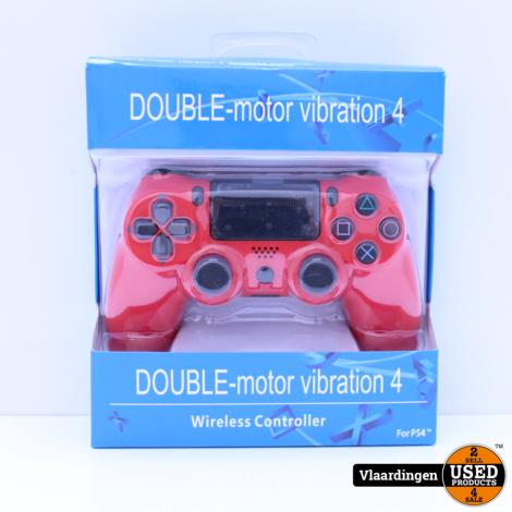 Controller voor Playstation 4 - Rood - Inclusief kabel - Nieuw in Doos -