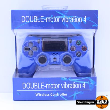 Controller voor Playstation 4 - Blauw - Inclusief kabel - Nieuw in Doos -