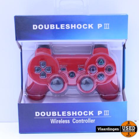 Controller voor Playstation 3 - Rood - Nieuw in Doos -