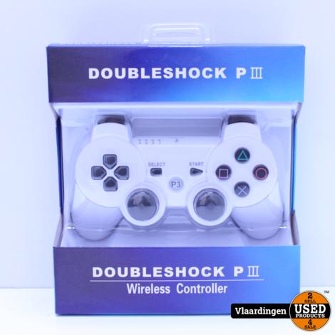 Controller voor Playstation 3 - Wit - Nieuw in Doos -